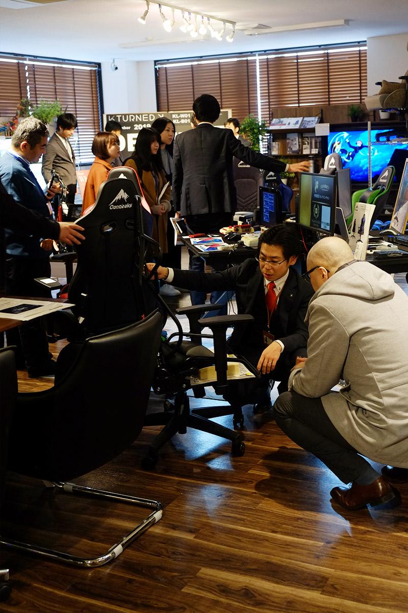 関家具大川展示会2020 NEW YEAR 会場写真:ゲ―ミングチェア「コンティークス」